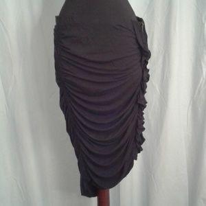 Magaschoni large elegant black skirt ruffles
